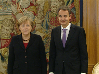 Ver vídeo 'La cumbre hispanoalemana reúne en Madrid a Angela Merkel y José Luis Rodriguez Zapatero'