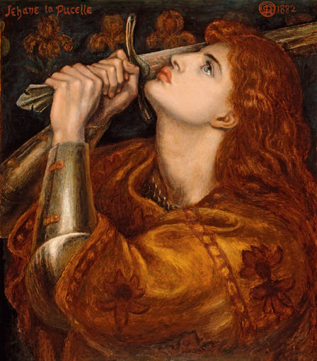 Dante Gabriel Rossetti. 'Juana de Arco', 1882. Préstamo del Syndics of the Fitzwilliam Museum, Cambridge.