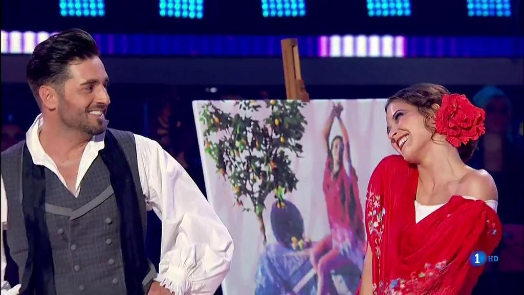 Bailando con las estrellas - David Bustamante halaga a su compañera de baile