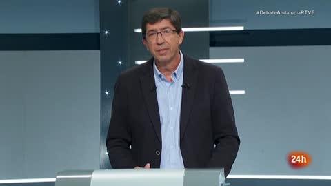 """Debate Elecciones Andalucía 2018   Juan Marín llama al """"voto masivo por el cambio"""" en su minuto final"""