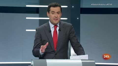 """Debate Elecciones Andalucía 2018   Moreno llama a """"pasar página"""" en Andalucía """"de manera histórica"""" en su minuto final"""