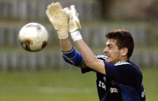 El debut de Casillas con 'la Roja'