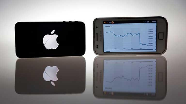 Hasta ocho modelos de smartphones de Samsung pueden desaparecer del mercado si prospera la demanda de Apple