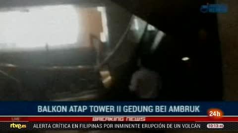 El derrumbe del techo de la Bolsa de Yakarta deja 75 heridos