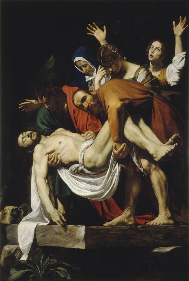 'El Descendimiento' (1602-1604). Michelangelo Merisi da Caravaggio. Óleo sobre lienzo.Ciudad del Vaticano, Museos Vaticanos