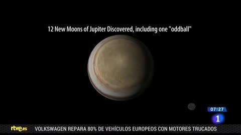 Descubren 12 nuevas lunas que orbitan alrededor de Júpiter