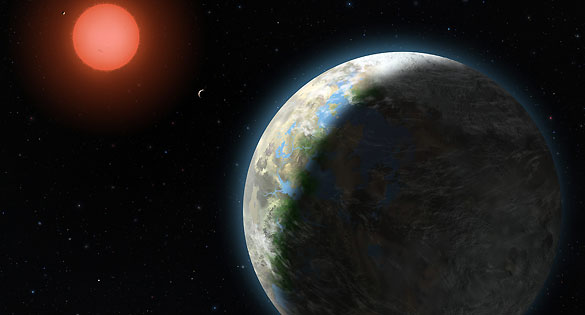 Recreación artística de Gliese 81 b, el primer planeta que los astrónomos consideran potencialmente habitable