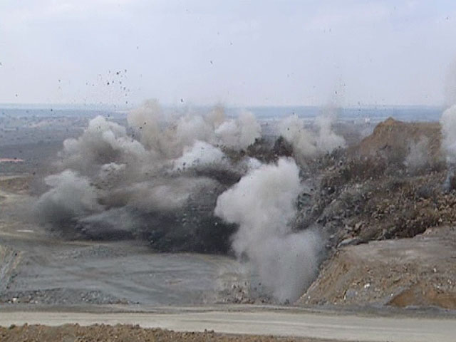 Cada año se detonan 70.000 toneladas de explosivos en obras y en minas españolas