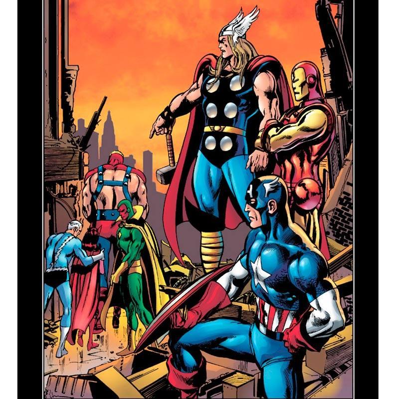 Dibujo de Neal Adams para la guerra Kree-Skrull