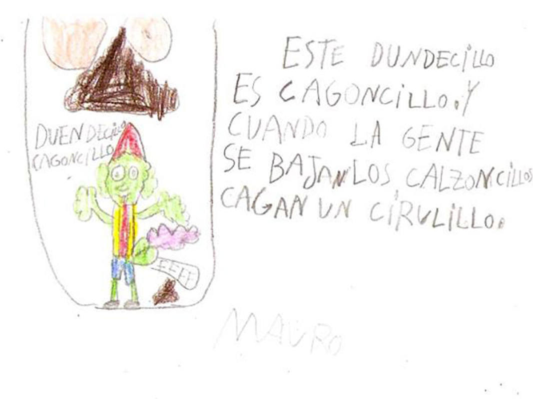 Dibujo de un niño del Duende Cagoncillo
