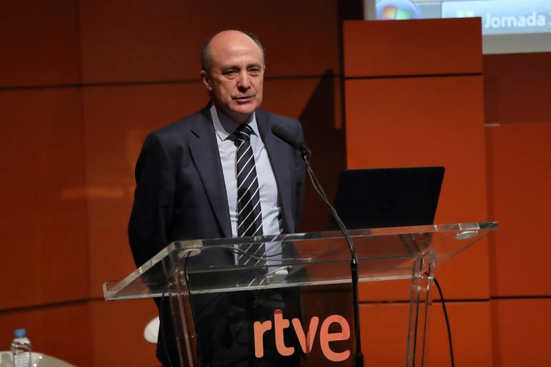 El director general corporativo de RTVE, Enrique Alejo, ha inaugurado la jornada