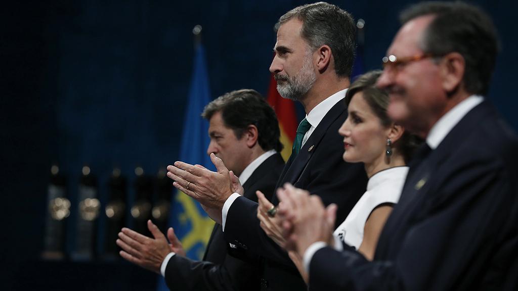 """Discurso del rey en los premios Princesa de Asturias 2017: """"España afronta un inaceptable intento de secesión que resolverán sus instituciones"""""""