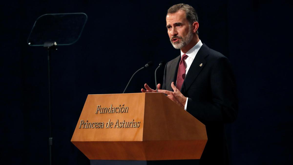 """Discurso del rey en los premios Princesa de Asturias 2018: """"Democracia y libertad es lo que significa nuestra Constitución"""""""