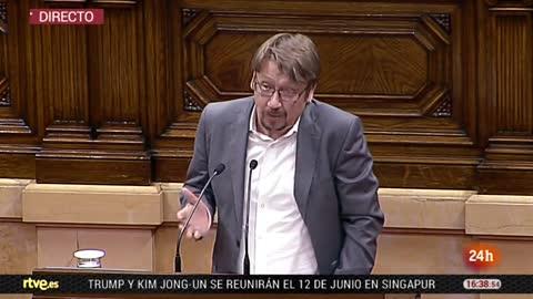 Discurso íntegro de Domènech en el debate de investidura de Torra