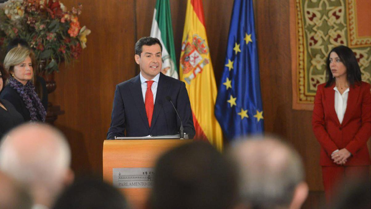 Discurso de toma de posesión de Juanma Moreno Bonilla como nuevo presidente de la Junta de Andalucía