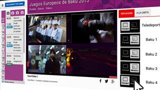 Disfruta los Juegos Europeos de Bakú en la web de RTVE con cinco señales en directo