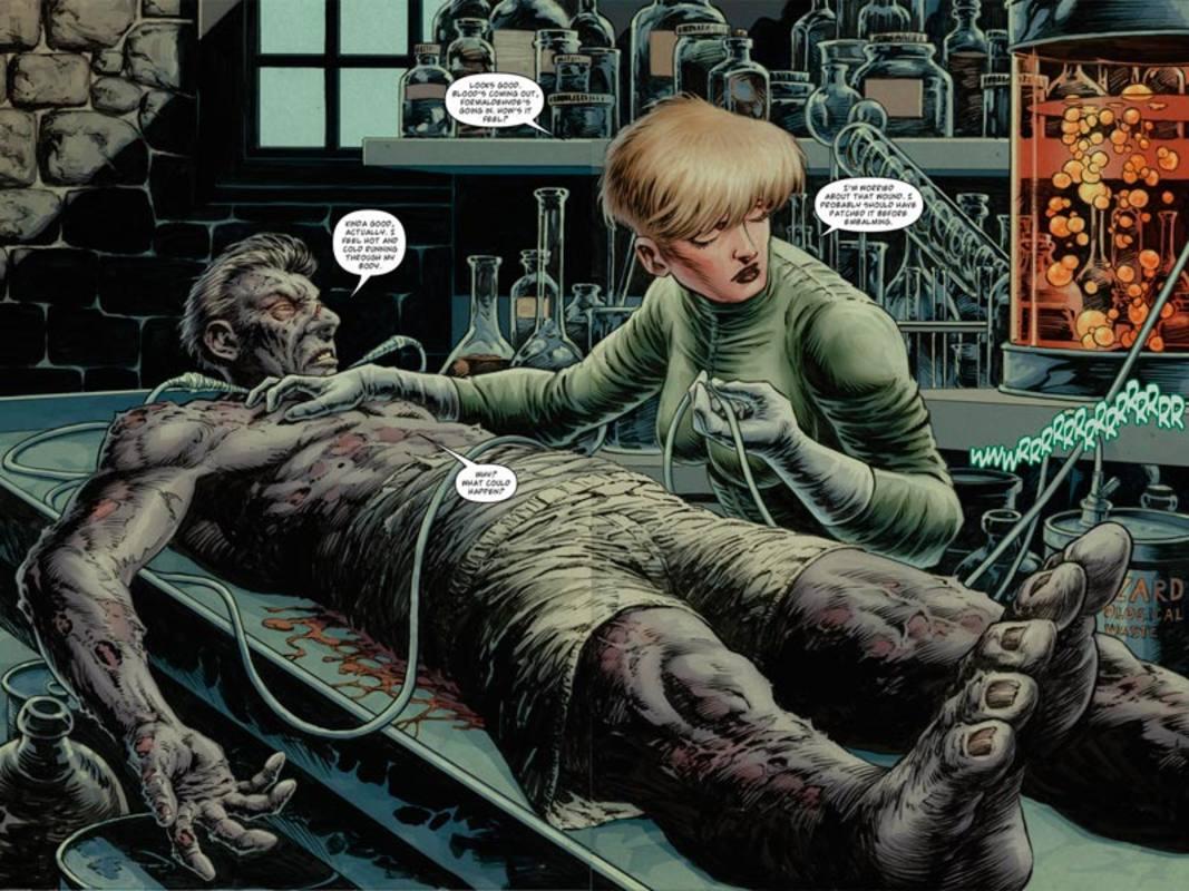 Doble página  (a color) de 'Dijo que estaba muerto'