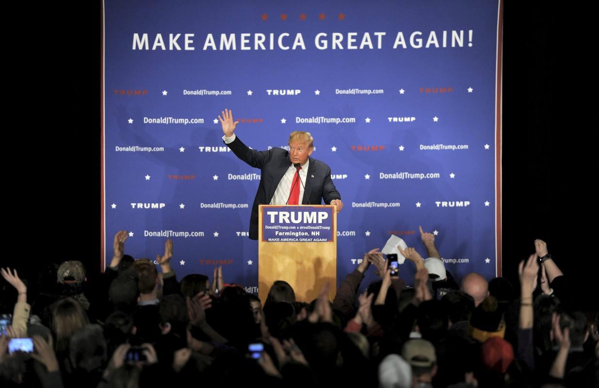 Donald Trump, durante un mitin en la localidad de Farmington, en New Hampshire