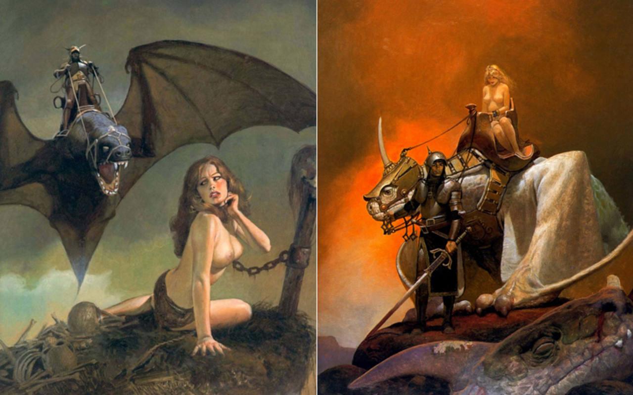 Dos ilustraciones de 'El Mercenario'
