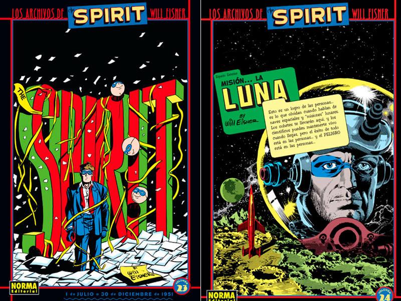 Dos portadas de 'Los Archivos de The Spirit'