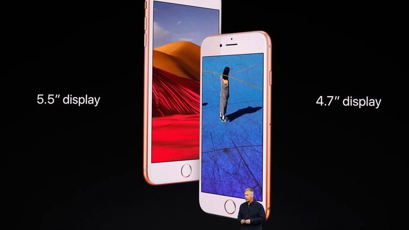 Las dos versiones de iPhone 8, una de 4,7