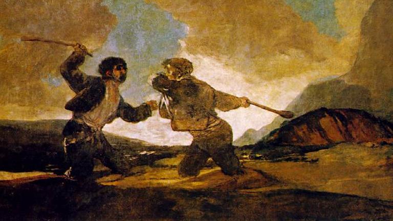 Mirar un cuadro - Duelo a garrotazos (Goya)