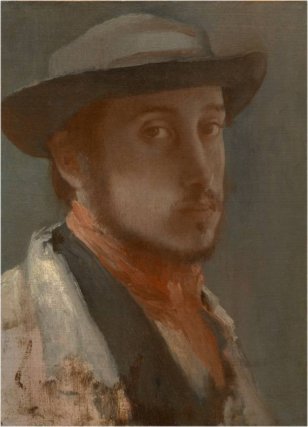 Edgar Degas. 'Autorretrato', 1857-58. Óleo sobre papel sobre lienzo. The Sterling and Francine Clark Art Institute, Williamstown. Photo Michael Agee.