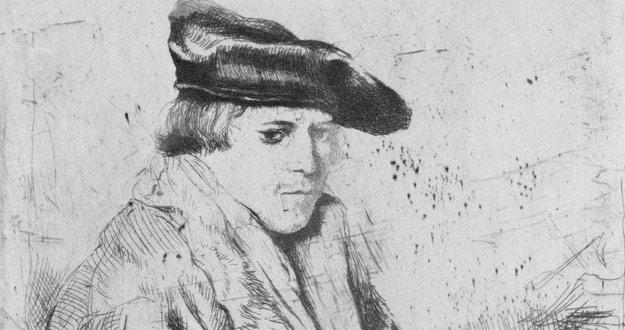 Edgar Degas. Copia de 'Rembrandt, joven con gorra de terciopelo'. The Metropolitan Museum of Art