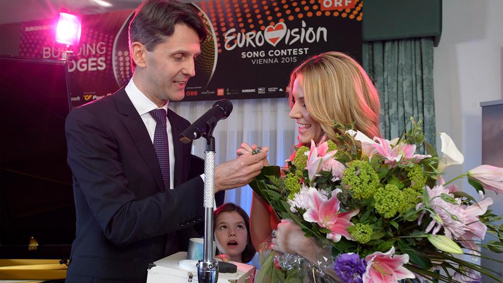 Eurovisión 2015 - Acústico de Edurne en la casa del Embajador de Austria (Completo)