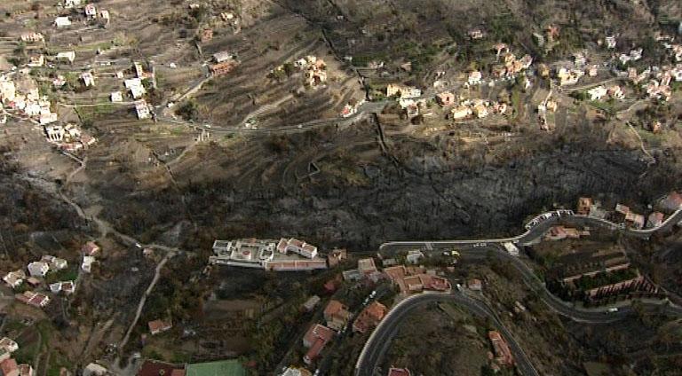 800 hectáreas de bosque afectados en el incendio de La Gomera