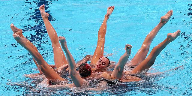 Ejercicio libre de combinada de natación sincronizada (21/07)