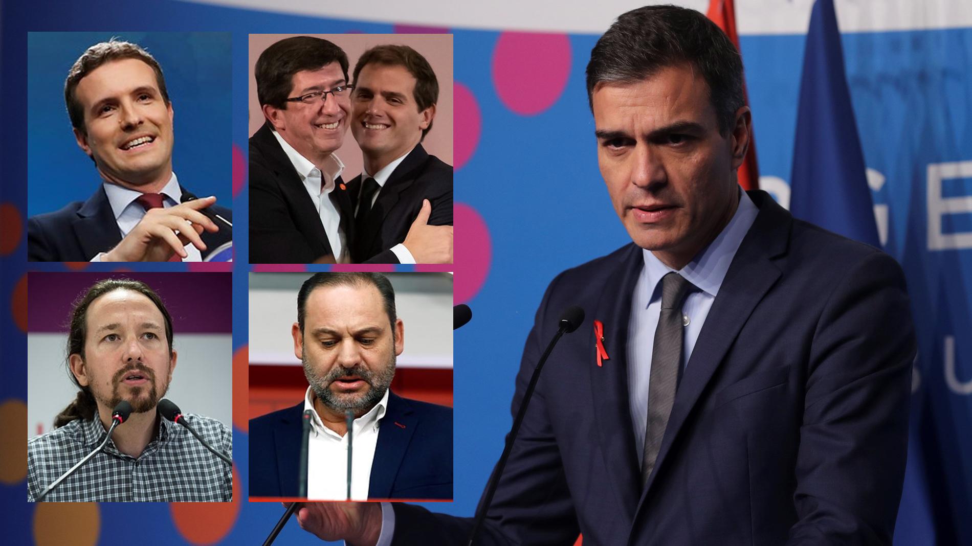 Elecciones andaluzas: Reacciones de los líderes nacionales