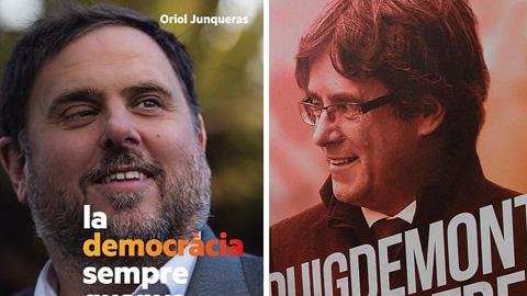Elecciones catalanas: Puigdemont apoya a Junqueras... como vicepresidente