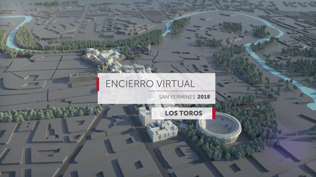 Encierro virtual - Los toros  de San Fermín