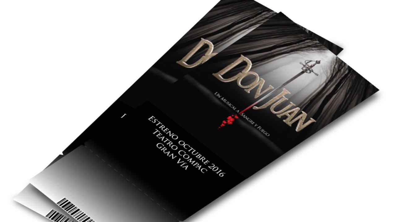 Entradas del musical 'Don juan'