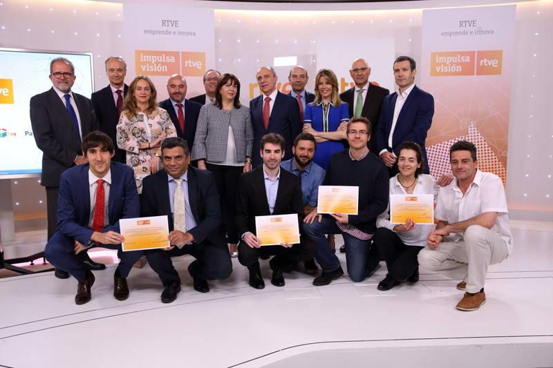 Entrega de los diplomas a los proyectos seleccionados en la segunda edición de Impulsa Visión RTVE