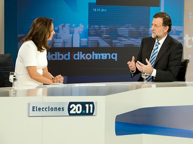 Entrevista de Mariano Rajoy en el Telediario de TVE