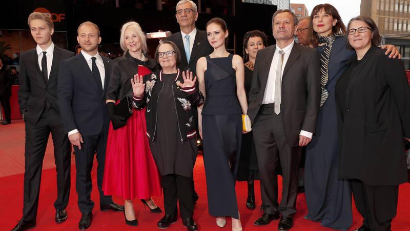 El equipo de 'Pokot' en la Berlinale.