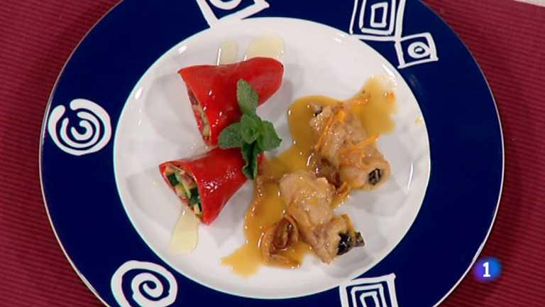 Cocina con Sergio - Escalopes rellenos a la naranja con canela