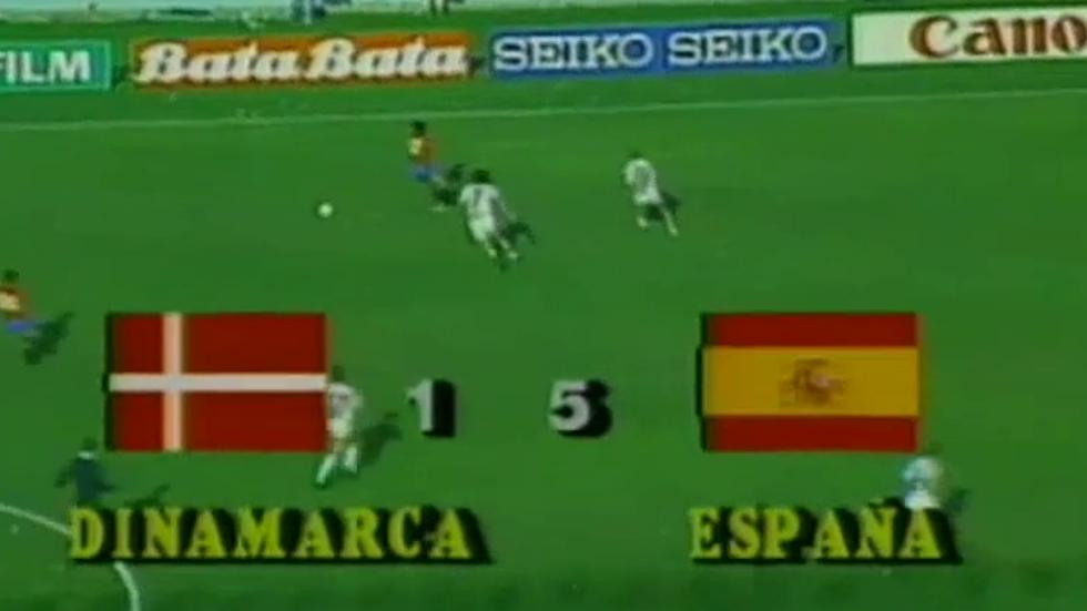 Retransmisión del España 5 - Dinamarca 1 del Mundial de Fútbol México '86 (sin locución)