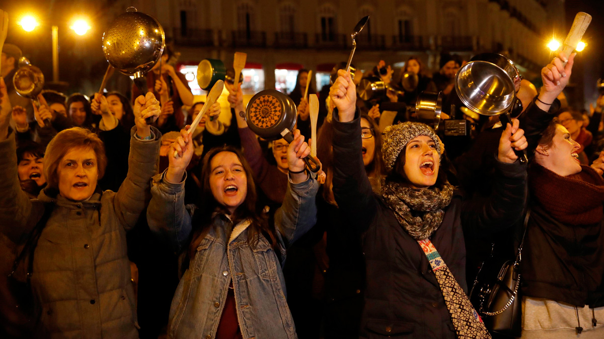 España vive este 8 de marzo la primera huelga general feminista