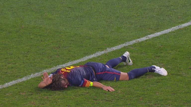 Espeluznante lesión de Puyol