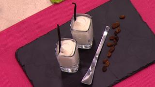 Cocina con Sergio - Escuela de pastelería: Espuma de chocolate blanco y pasas
