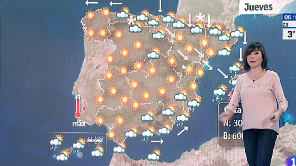 Este jueves, temperaturas muy bajas en Cantabria, Pirineos y Sistema Central