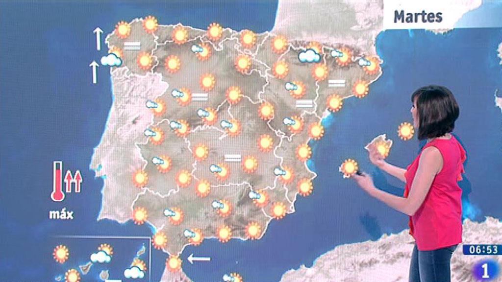 Este martes habrá un ascenso de las temperaturas en el interior peninsular y Cantábrico oriental