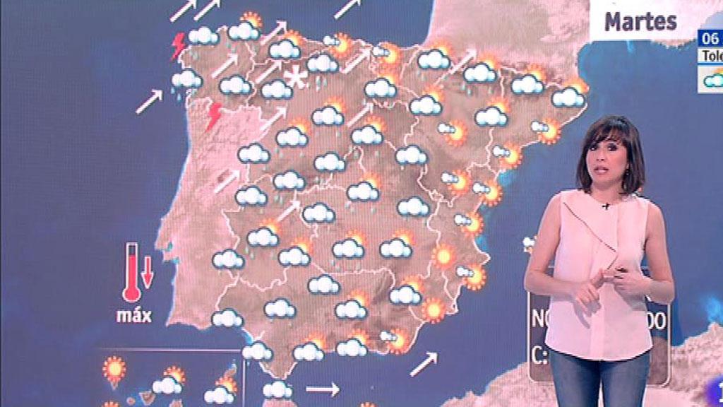 Este martes habrá cielos nubosos en la península y lluvias en la vertiente atlántica