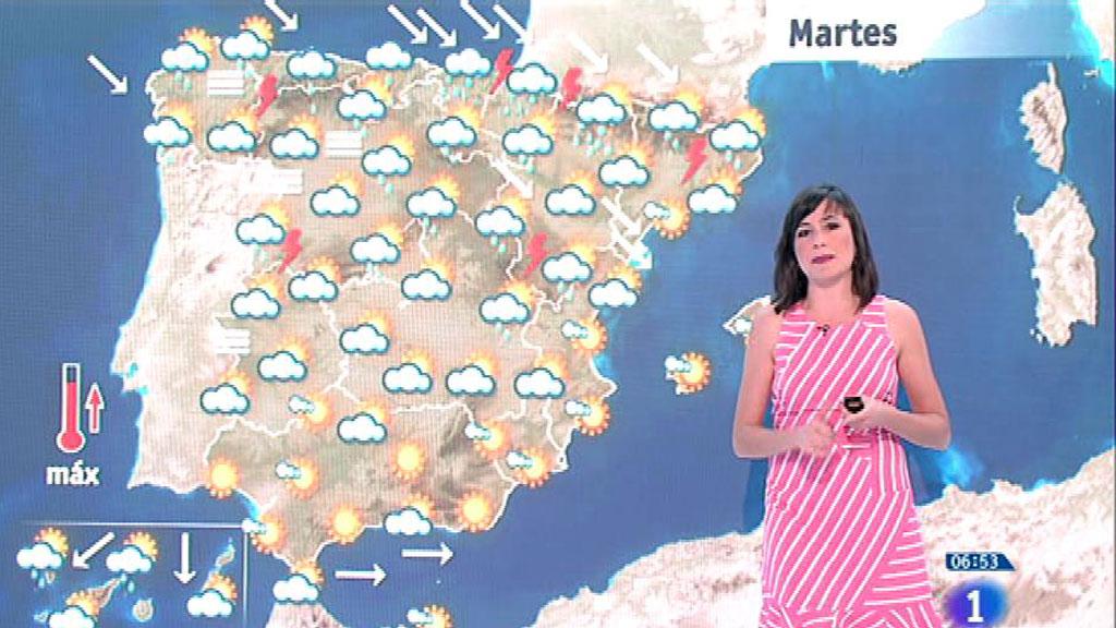 Este martes habrá intensas lluvias en el Cantábrico y tormentas en Pirineos y Gerona