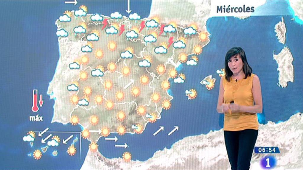 Este miércoles habrá lluvias localmente fuertes en el Cantábrico, alto Ebro y los Pirineos