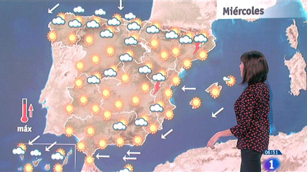 Este miércoles habrá viento, nubes, lloviznas y aumento de las temperaturas