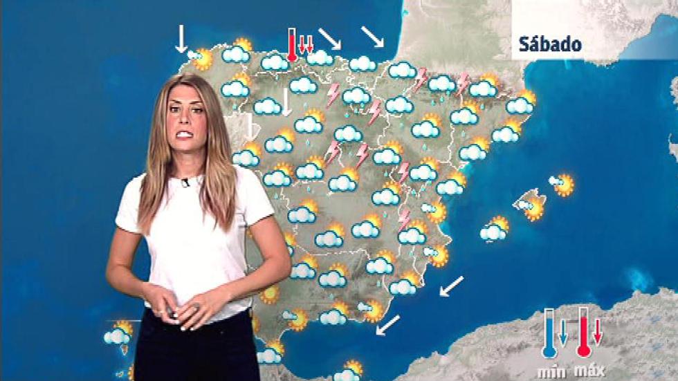 Este sabado bajan las temperaturas, salvo en el Mediterráneo y en Canarias